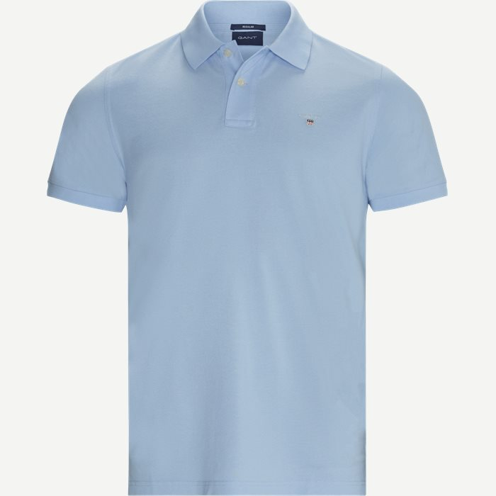 The Original Piqué SS Rugger Polo T-shirt - T-shirts - Regular - Blå